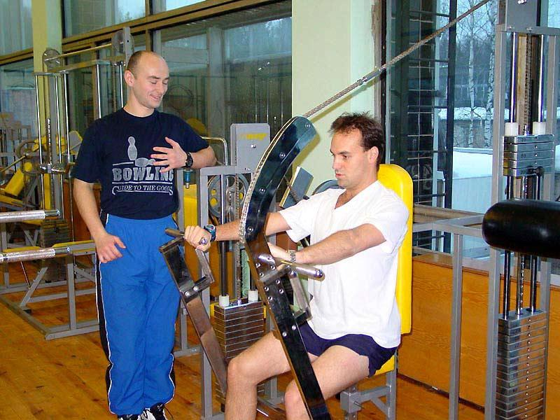Yuri and Mark in the cosmonaut gym