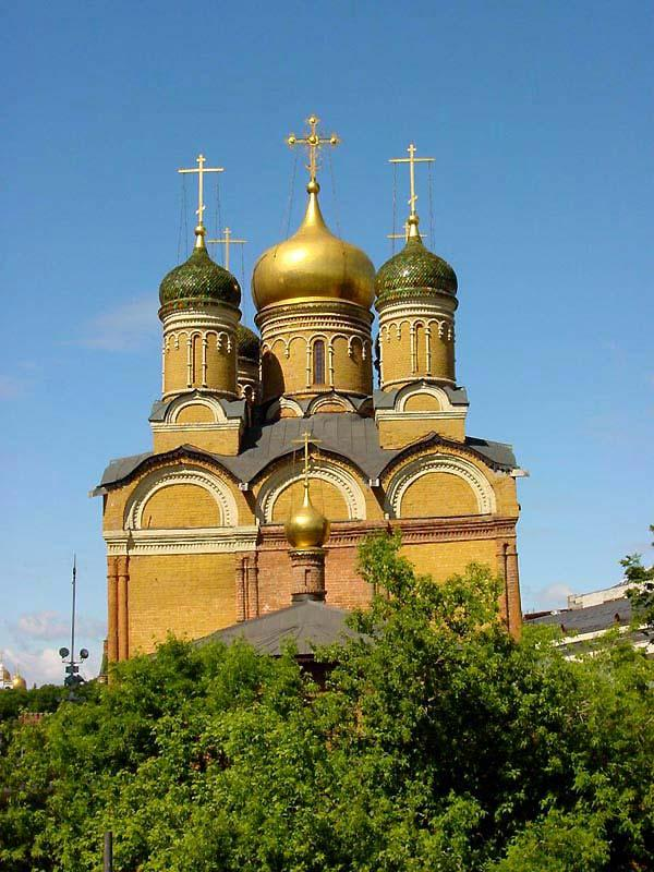 Cupolas on an Orthodox Church